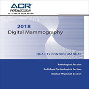 2018 Digital Mammography Quality Control Manual
